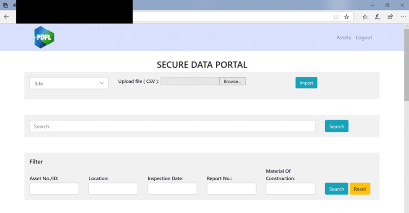 Secure Data Portal